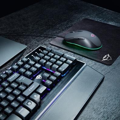 Mouse Gamer Trust GXT 930 Jack, RGB, 6 Botões, 6400DPI - 23575