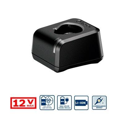 Carregador Bosch GAL 12V-20, 12V, Bivolt, Compatível com Baterias 12V - 2607226201-000
