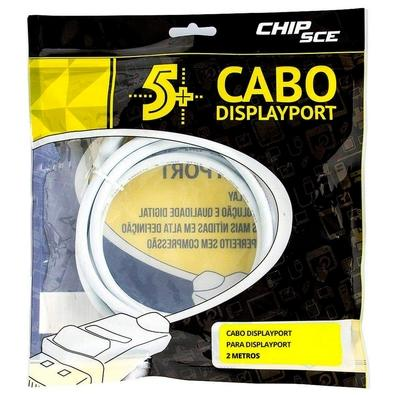 Cabo Displayport + Displayport 1.2 5+, 2m, Branco - 018-7493