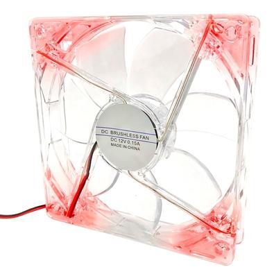 Cooler FAN Braview FLD-01, 120m, LED, Vermelho - 41GABCOOLXX01