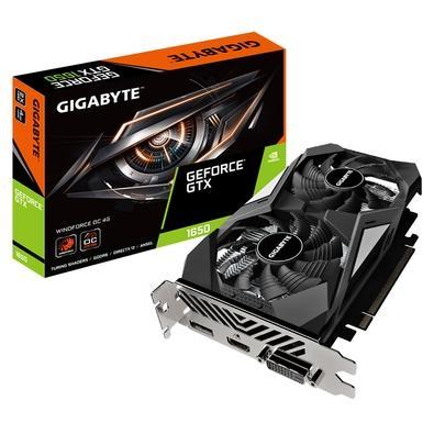 Placa de Vídeo Gigabyte NVIDIA GeForce GTX 1650 D6 WINDFORCE OC, 4G, GDDR6, Rev. 2.0 - GV-N1656WF2OC-4GD