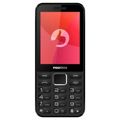 Celular Positivo P28B, Tela 2.8´, Câmera, Bluetooth, Rádio FM,  Dual SIM
