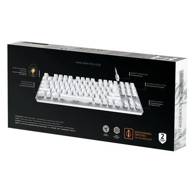 Teclado Mecânico Gamer Razer BlackWidow Lite Tenkeyless, LED Branco, Razer Switch Orange, US, Mercury White - RZ03-02640700-R3M1