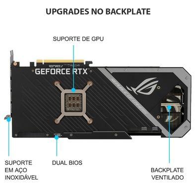 Placa de Vídeo Asus NVIDIA GeForce RTX 3080, 10GB, GDDR6X - ROG-STRIX-RTX3080-O10G-GAMING