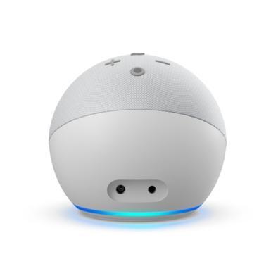Echo Dot (4ª Geração) com Relógio e Alexa, Amazon Smart Speaker Branco - B084J4WP6J