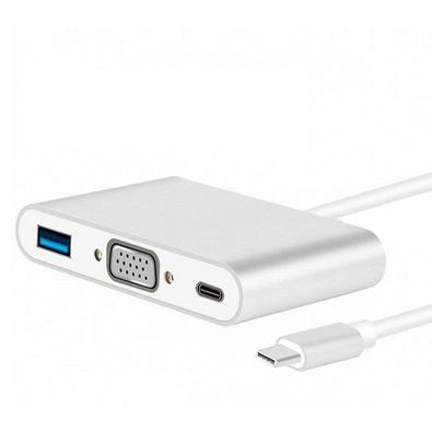 Cabo MD9 USB Tipo CM 3.1/VGA F + USB 3.0 F + Tipo C 3.1 - 9176