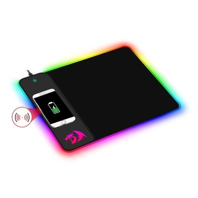 Mousepad Gamer Redragon Crater, Qi Wireless, RGB, Médio (400x300mm) - P028