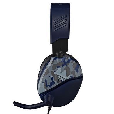 Headset Gamer Turtle Beach Recon 70P, Compatível com PS4 PS5 PC Xbox One Nintendo Switch e Mobile, Drivers 40mm, Azul Camuflado - TB70PP0008