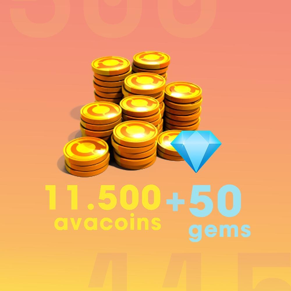 Gift Card Moeda para Jogo Avakin Life: 11.500 Avacoins + 50 Gemas - Produto Digital