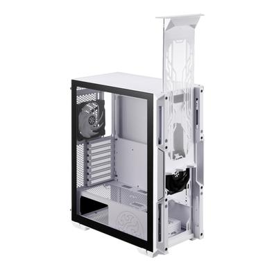 Gabinete Gamer XPG Starker Compact, Mid Tower, 2x FAN (1x Traseira ARGB, 1x Frontal), Lateral em Vidro Temperado, Branco - 75260180