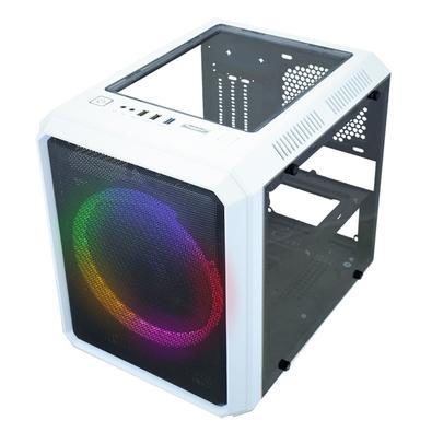 Gabinete Gamer K-MEX MICROCRAFT VI CG-06RC, Acrílico, Branco e Preto - CG06RCRH006CB0X