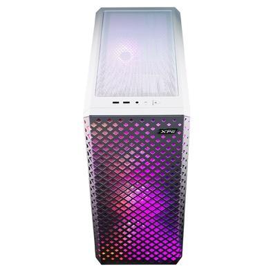 Gabinete Gamer XPG Defender Pro, Mid Tower, 3x FANs ARGB(2x Frontais, 1x Traseira), Lateral em Vidro Temperado, Branco - 15260037