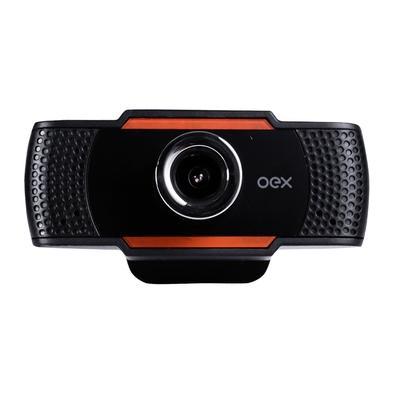 Webcam Oex Easy, USB/P2, 720p/30FPS, Microfone Embutido, Preto - W200