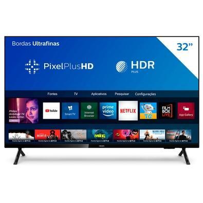 Smart TV Philips 32´ HD, HDR Plus, 3x HDMI, 2x USB, WiFi, Conversor Digital, Netflix, Youtube, Globoplay, Prime Video - 32PHG6825/78