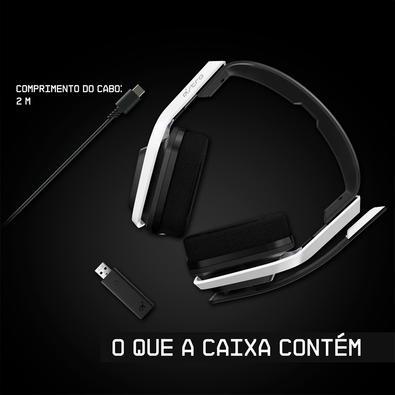 Headset Sem Fio Gamer ASTRO A20 Gen 2, USB, para Xbox Series X/S Xbox One PC Mac, Branco/Verde - 939-001883