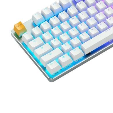 Teclado Mecânico Gamer Glorious Gaming GMMK, RGB, Switch Gateron Brown, US, Branco - GLO-GMMK-FS-BRN-W