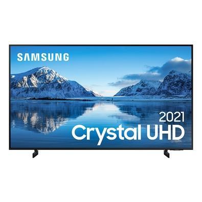 Samsung Smart TV 60´´ Crystal UHD 4K 60AU8000, Dynamic Crystal Color, Borda Infinita, Visual Livre de Cabos, Alexa Built In - UN60AU8000GXZD