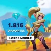 Gift Card Digital Lords Mobile - 1.816 Diamantes