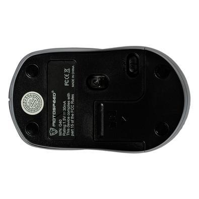 Mouse Sem Fio Motospeed G40, 800/1200/1600 DPI, 3 Botões, Wireless, Receptor USB, Plug And Play, Preto - FMSMS0066PTO
