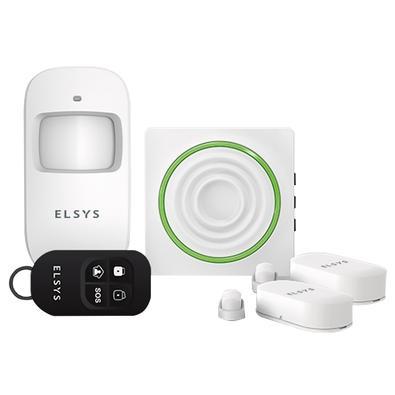Kit de Alarme Elsys com Sensores Sem Fio, Wi-Fi, Branco - ESA-KW1080
