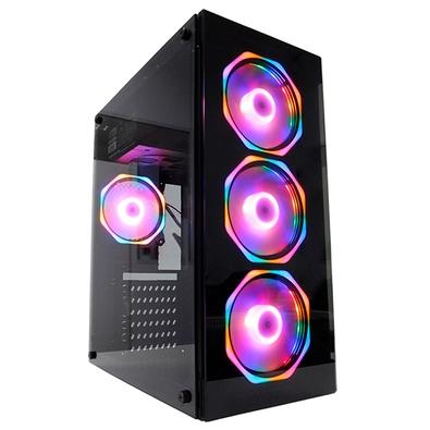 PC Gamer Concórdia Glass Intel Core i3-9100F, 8GB DDR4, SSD 120GB, HD 1TB RX 550 4GB, Fonte 500W, Linux - 40552