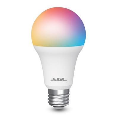 Lâmpada Smart AGL 9W, WiFi,  RGB, Compatível com Alexa, Siri e Google Assistant, Branco - 1106081