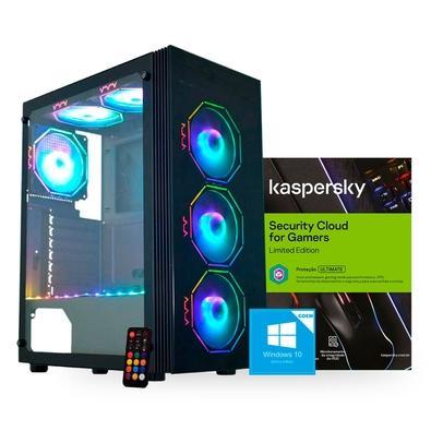 PC Gamer Compusonic Intel Core i3 9100F, 8GB, SSD 512GB, GTX 1650 4GB, 500W 80PLUS + Windows 10 Home + Norton Antivírus Gamer 3 PCs Digital