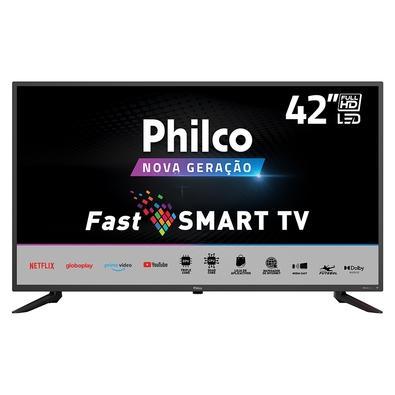 Smart TV Philco PTV42G10N5SKF, 42, Full HD, LED, HDMI/USB/Wi-Fi, 60Hz, Preto - 99423025