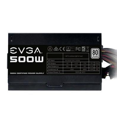 Fonte EVGA 500W 80 Plus White - 100-W1-0500-KR