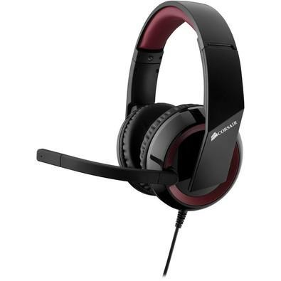 Headset Gamer Corsair USB Surround 7.1 Preto e Vermelho HS40 - CA-9011122