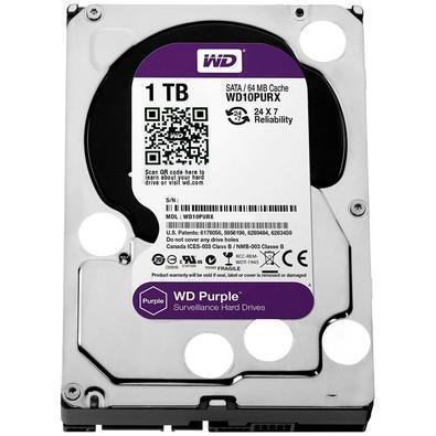 HD WD SATA 3,5´ Purple Surveillance 1TB IntelliPower 64MB Cache SATA 6.0Gb/s - WD10PURX