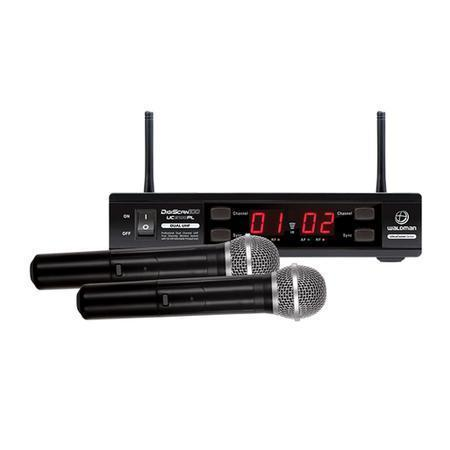 Waldman Kit Microfone sem Fio com 1 Receptor e 2 Transmissor 680-865MHz DC 12V 2100PL