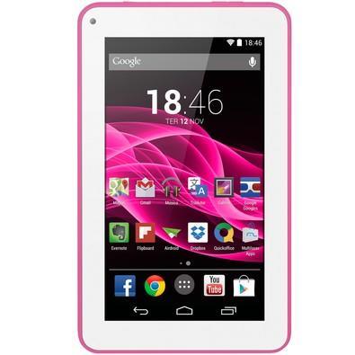 Tablet Multilaser M7S Rosa, Quad Core, Android 4.4, Dual Câmera, Tela 7´´, Wi-Fi, 8GB - NB186