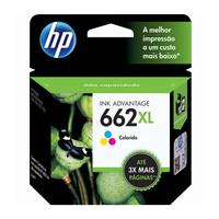 Cartucho de Tinta HP 662XL, Colorido - CZ106AB