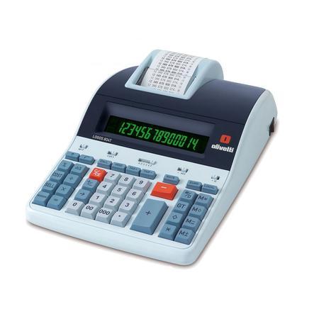 Calculadora de Mesa Olivetti LOGOS 804T com Impressão Térmica, 14 Dígitos, Visor LCD, Sistema Back-lit - Bivolt