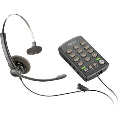 Telefone com Headset Plantronics Practica - T110