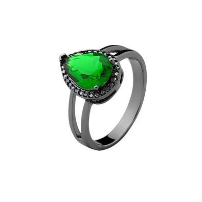 Anel Verde Esmeralda Tamanho 16 - MT067