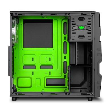 Gabinete Sharkoon ATX USB 3.0 3x Fan LED VG5-W Green