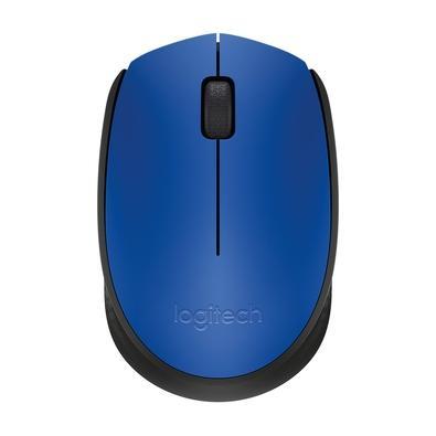 Mouse sem fio Logitech M170 com Design Ambidestro Compacto, Conexão USB e Pilha Inclusa, Azul - 910-004800