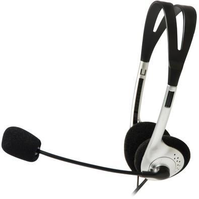 Headset C3 Tech Voicer Light c/ Microfone Preto/Prata - CT662040BS