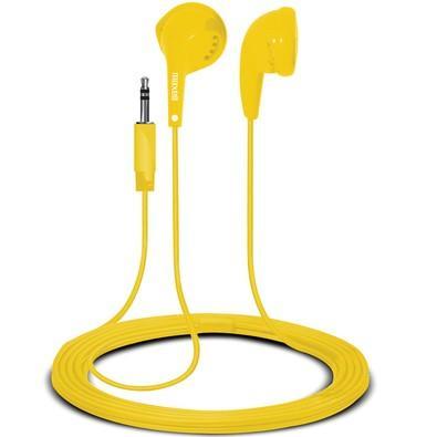 Fone de Ouvido Auricular Earbuds Amarelo Maxell 347263