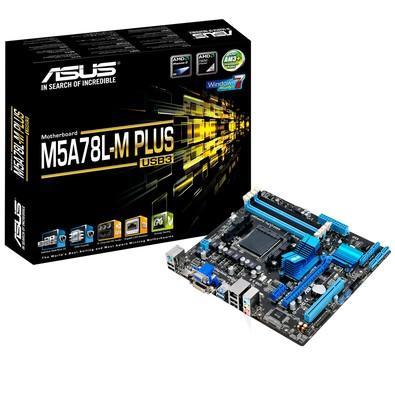 Placa-Mãe ASUS p/ AMD AM3+ mATX M5A78L-M PLUS/USB3, 4x DDR3 HDMI/DVI/VGA, USB 3.0 Frontal, Áudio Gamer