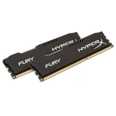 Memória Kingston HyperX FURY 32GB (2x16GB) 2400Mhz DDR4 CL15 Black - HX424C15FBK2/32
