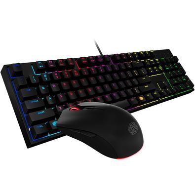 Kit Teclado+Mouse Gaming Coolermaster MasterKeys Lite L Combo RGB - SGB-3040-KKMF1-BR