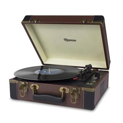 Toca Discos Vitrola Raveo Volare - MP3, USB Reproduz e Grava, Aux. 10W RMS Marrom/Preto