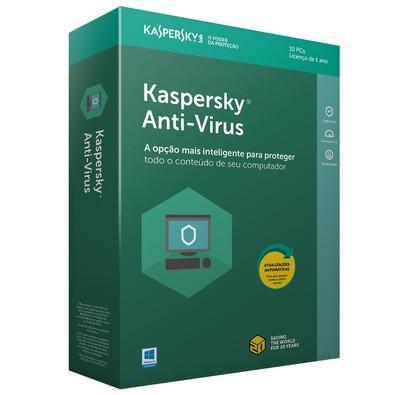 Kaspersky Antivírus 2018 10 PCs