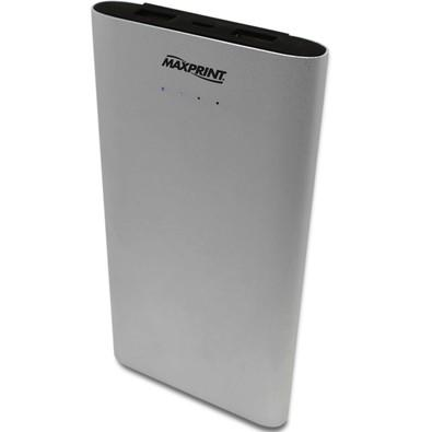 Carregador Portátil Maxprint 2 Portas USB 12000mAh - Prata - 6012182
