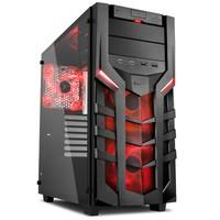 Gabinete Sharkoon Red ATX com Vidro Lateral Temperado - DG7000-G