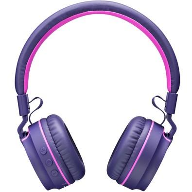 Headphone Pulse Fun Bluetooth PH217 Rosa e Roxo