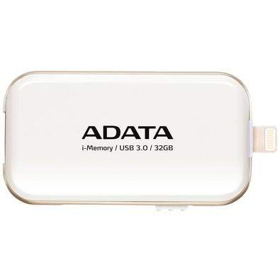 Pen Drive Adata p/ iPhone, iPad e iPod 32GB - AUE710-32G-CWH Branco